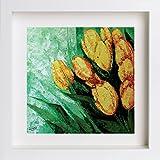 E-lant 10artificielle Calla Lily Bouquet de mariée rose artificielle Bouquet, blanc - blanc, 10