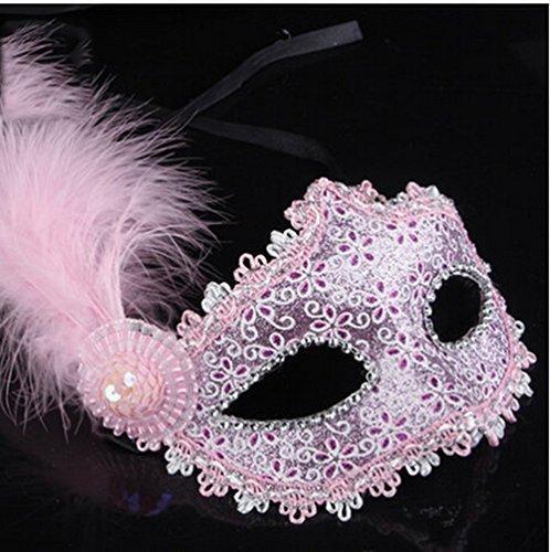 Halloween-Maske-erwachsene halbe Gesichtsmaske-Feder-Maske Sexy Prinzessin Bar Tanz-Stützen Partei-Quadrat ( Farbe : 2 )