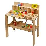 TikTakToo XXL Werkzeugbank aus Holz Spielzeug Kinder Zubehör Werkbank Werkzeug Beluga