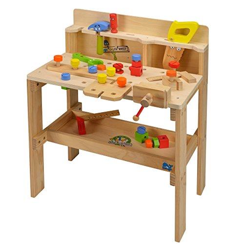 XXL Werkzeugbank aus Holz Spielzeug Kinder Zubehör Werkbank Werkzeug Beluga