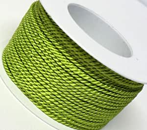 Kordel Bobine de cordelette décorative Vert clair 50m x 2mm