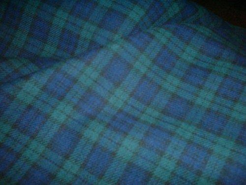 Black Watch–100% Gebürstete Baumwolle Weich Tartan Stoff–150cm (149,9cm) breit, Meterware, (Pyjama Gebürstete Hose Baumwolle)