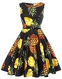 GK Vintage Dress Kleider für hochzeitsgäste Elegant Festliche Kleid Partykleid Faltenrock Swing Kleid S CL6086-61