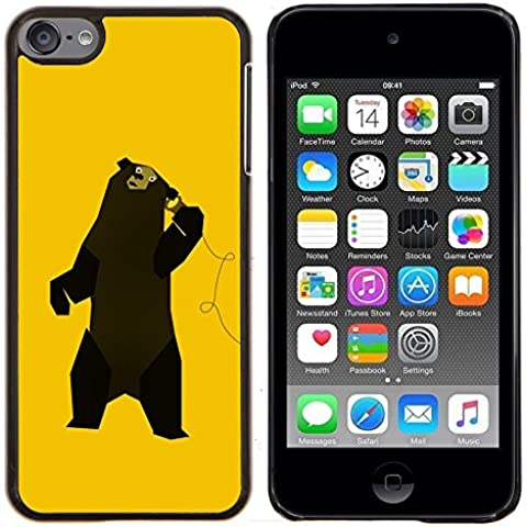 - Funny Music Bear Dancing/ Copertura dura Snap On Cell Phone - Cao - For Apple iPod Touch 6 6th Generation