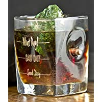 Regali di Natale per gli uomini .Whiskey Glass with Real 0.308 cal. Bullet Good Day, Bad Day,What Day?Free Engraving