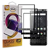 Guran [3 Pezzi Pellicola Vetro Temperato per Blackberry Keyone Smartphone Copertura Completa 9H Durezza Anti-Impronte HD Pellicola Protettiva - Nero