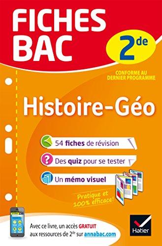 Fiches bac Histoire-Géographie 2de: fiches de révision Seconde par Françoise Bouron