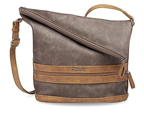 Tamaris - Smirne Hobo Bag, Borse a spalla Donna Marrone (Dark Brown Comb.)