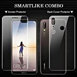 #6: COMBO OFFER FOR Huawei P20 lite (Transparent BACK COVER + TEMPERED GLASS)