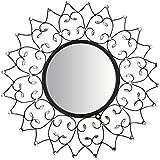"Mirror : Lulu Decor, Web Wall Mirror, Decorative Metal Wall Mirror, Frame Size 27"" (Mirror)"