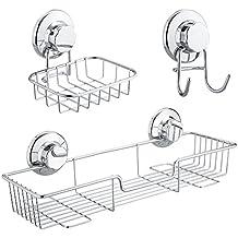 SANNO piatto di sapone gancio ventosa titolare spugna Cucina e bagno accessori ,L'acciaio inossidabile non (Ventosa Piatti)