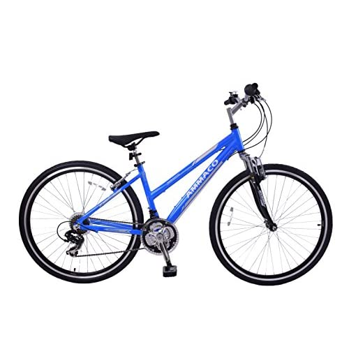 "510p1Rt%2BCPL. SS500  - Ammaco CS150 WOMENS 19"" ALLOY FRAME FRONT SUSPENSION 21 SPEED 700C WHEEL HYBRID BIKE BLUE"