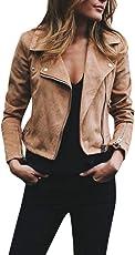 Outtop(TM) Women's Retro Rivet Zipper up Bomber Jacket Casual Coat Outwear