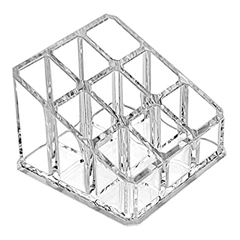 Oriskey Clear Acrylic Cosmetic and Makeup Brush Holder Box Case