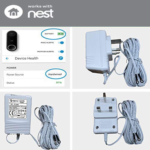White Nest Hello Video Doorbell Power Supply Video Doorbell Adapter