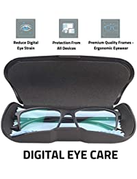 Intellilens® Premium Blue Cut Zero Power Spectacles for Eye Protection from UV by Computer Tablet Laptop Mobile (Unisex)