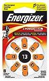 Batterie per apparecchi acustici Energizer EZ Turn & Lock, formato 13, confezione da 8, arancione