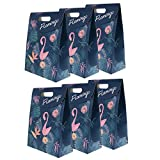 Sharplace Pack of 6 Flamingo Treat Bags Loot Bags Gift Bags Wedding Birthday Baby Shower Favor - 12 x 6 x 16 cm