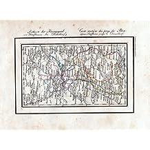 Postkarte der Rheingegend von Schaffhausen bis Düsseldorf - Düsseldorf Giessen Koblenz Frankfurt Stuttgart Schaffhausen Karte Lithographie