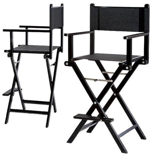 Chaise haute maquilleur professionnelle Alu Noire