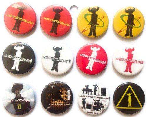 The Bigger vivider 4,4cm 12Awesome Pins Tasten Badge Jamiroquai Jay Kay Säure 1