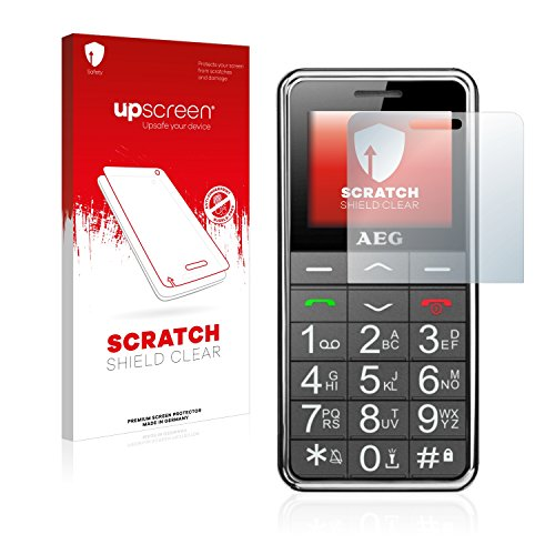 upscreen Scratch Shield Clear Displayschutzfolie (AEG, Voxtel SM250, Kratzfest, transparent, 1 Stück)