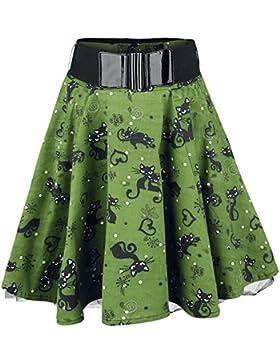 Rockabella Feline Swing Minifalda Verde