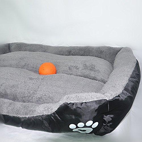 ANPI Haustierbett, Weiche Warme Maschine Waschbar Gepolstert Microfiber Modernes Design Deluxe Haustier Kissen Nest Höhle Bett Sofa für Katze Hund Kaninchen Welpen Haustier (XL, Schwarz)