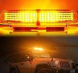LED Rundumleuchte Warnleuchte AMBOTHER® Warnlicht Alarm Licht Warnblinkleuchte mit Magnetfuß Blinkleuchte KFZ 12V Gelb (240 LED)