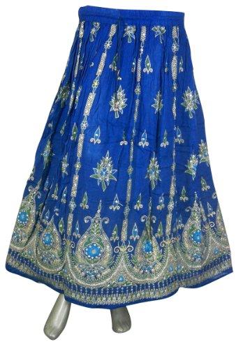 Entwerfer Druck Rayon Rock Frühlings Sommer Indien Kleidung (Rot)