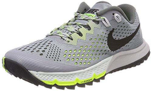 Nike Damen W AIR Zoom Terra Kiger 4 Laufschuhe, Grau (Discret/gris Foncé/vert Volt/Noir), 39 EU
