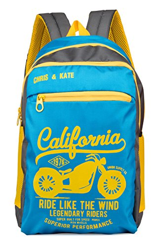 Chris & Kate Blue School Bag | College Bag | Casual Backpack for Boys (27 Litres) (CKB_108AI)