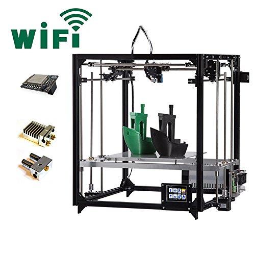 FLSUN F5 3D Drucker, Touchscreen Doppel Extruder DIY Drucker Kit Auto Nivellierung Druck Größe 260X260X350mm mit Beheizten Bett und Wifi Modul - 2