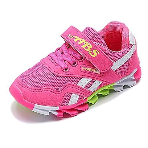 ULA-ULA Kinder Jungen Mädchen Leicht Casual Sportschuhe Schnür Laufschuhe Freizeit Sneaker Free Run Turnschuhe Straßen Wander Schuhe (EU31-32:20cm, (Golfschuhe Kinder 30)