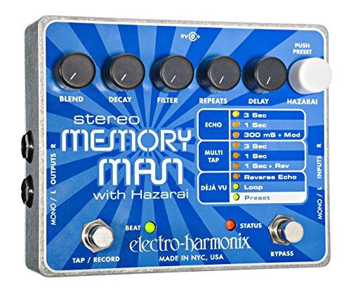 Electro Harmonix memoria Stereo Hombre/pedal Hazarai de plata de la guitarra eléctrica