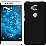 Funda Rígida para Huawei Honor 5X - goma negro - Cover PhoneNatic Cubierta Case