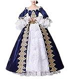 Femmes Satin gothique victorien princesse robe Halloween Cosplay Costume (Taille sur mesure, CC3032B-NI)