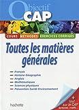 Objectif CAP : Toutes les matières générales