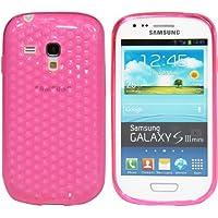 Luxburg® Diamond Design Schutzhülle für Samsung Galaxy S3 Mini GT-I8190 in Farbe Rosenquartz Pink / Rosa, Hülle Case aus TPU Silikon