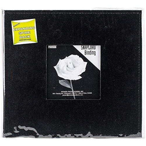 Pioneer Snapload Erinnerungsbuch, 20,3 x 20,3 cm, mit Kunstlederrahmen, Schwarz (Pioneer 8x8 Scrapbook Album)