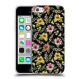 Head Case Designs Offizielle Julia Badeeva Gelb Blumig Gemischte Muster 4 Soft Gel Hülle für iPhone 5c