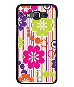 Fabcase Flowers with dots design Designer Back Case Cover for Samsung Galaxy E7 (2015) :: Samsung Galaxy E7 Duos :: Samsung Galaxy E7 E7000 E7009 E700F E700F/Ds E700H E700H/Dd E700H/Ds E700M E700M/Ds