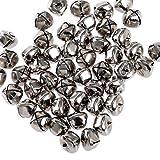 Kleenes Traumhandel Lot de 100grelots en fer avec œillet 15mm, argent, 15 mm