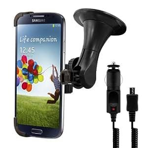 kwmobile KFZ Halterung für das Samsung Galaxy S4 - PKW Auto Halter mit Saugnapf in Schwarz + Ladegerät