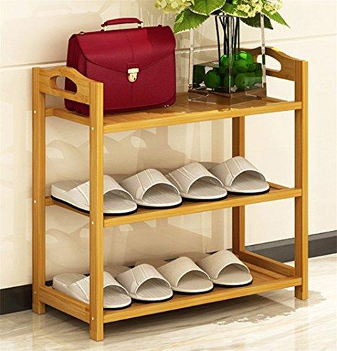L&Y Meuble de cuisine Le support en bois de support de chaussure étire le support de chaussure d'Assemblée de stockage de ménage 3 couches Étagère de rangement (taille : 70cm)