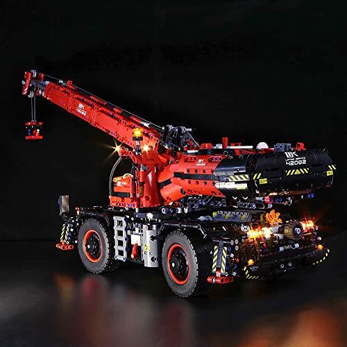 LOSGO Beleuchtungsset LED-Kabel Set für Technic Geländegängiger Kranwagen, Upgrade LED Licht Set, Kompatibel mit Lego 42082