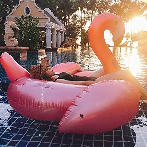 Swim Party Toys Zattera Gonfiabile Acqua Gonfiabile Oro Rosa Fenicottero Galleggianti Fila Adulto Mare Spiaggia Piscina Giocattolo Acquatico Sedile per Abilità Equestre Alla Deriva Divano Letto Rosa