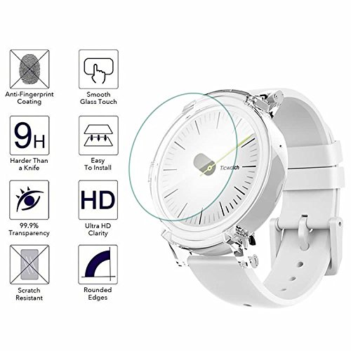 YANSHG-For-Ticwatch-E-Watch-Tempered-Glass-Screen-Protector-Anti-scratch-Ultra-Clear-9H-Tempered-Glass-Protector