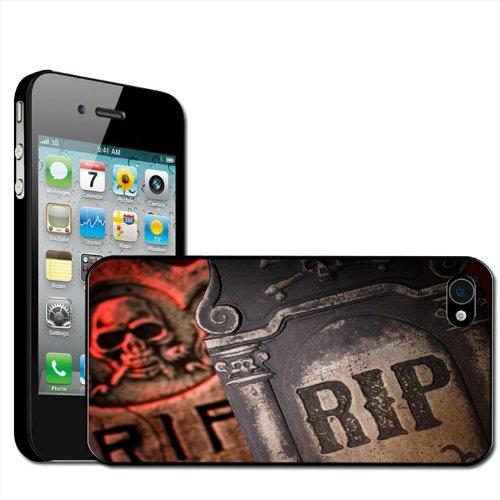 Fancy A Snuggle Schutzhülle°/°Hartschale für Apple iPhone 4°/°4S, Design Aufschrift RIP Ruhe in Frieden Grabsteine Halloween