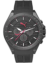 Puma Time Herren-Armbanduhr PU- Forward black red Analog Quarz Kautschuk PU104021001